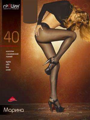 Колготки женские МАРИНА топ 40 Грация. Цвет: светло-коричневый