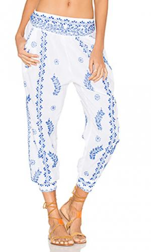 Cotton embroidered trousers juliet dunn. Цвет: белый