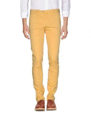 Повседневные брюки B SETTECENTO. Цвет: желтый