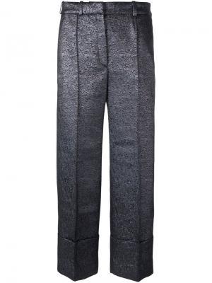 Укороченные брюки Leo Racil. Цвет: металлический