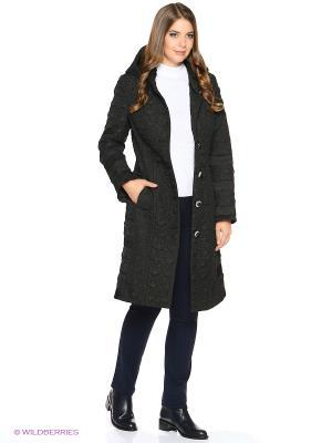 Стеганое пальто Brillare. Цвет: черный