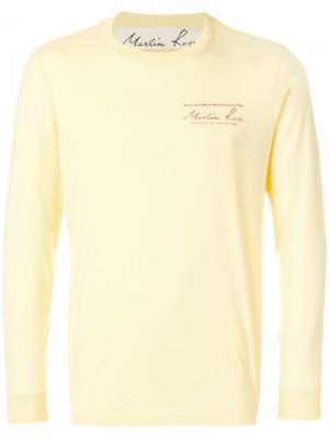 Свитер с круглым вырезом Martine Rose. Цвет: жёлтый и оранжевый