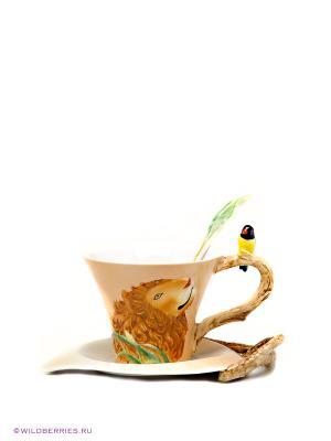 Чайная пара Pavone. Цвет: рыжий