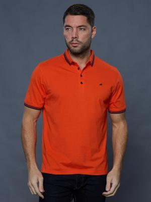 Футболка-поло John Jeniford. Цвет: оранжевый