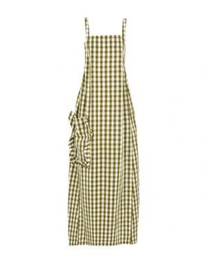 Длинное платье ERIKA CAVALLINI. Цвет: зеленый-милитари