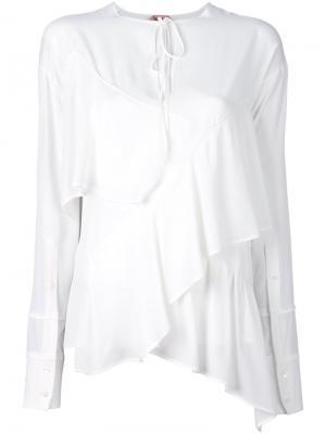 Многослойная блузка Nº21. Цвет: белый