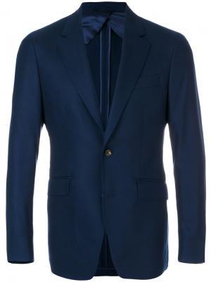 Однобортный пиджак Hackett. Цвет: синий