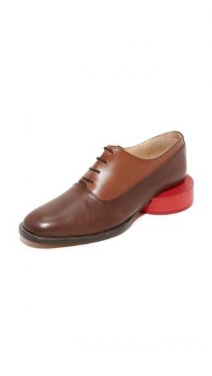 Ботинки на шнурках Clown Jacquemus. Цвет: коричневый