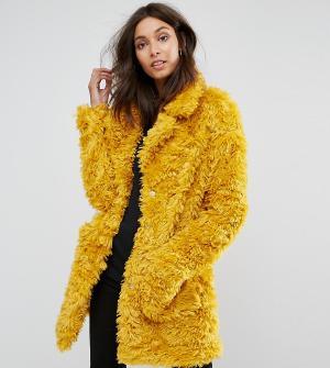 Glamorous Tall Шуба из искусственного меха. Цвет: желтый