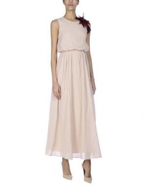 Длинное платье SOUVENIR. Цвет: телесный