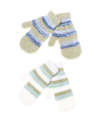 Варежки FOMAS. Цвет: белый, оливковый, синий
