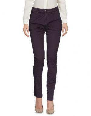 Повседневные брюки CRUCIANI. Цвет: баклажанный
