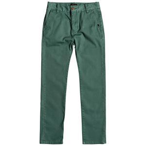 Штаны прямые детские  Krandyyouth Mallard Green Quiksilver. Цвет: зеленый