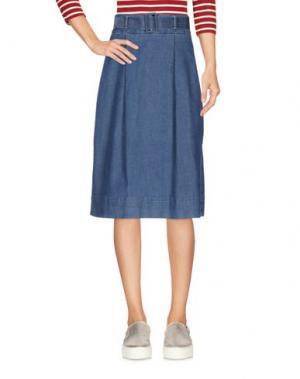 Джинсовая юбка HAIKURE. Цвет: синий