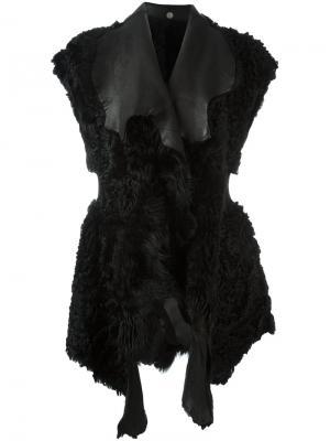 Жилет с шерстяными панелями Lost & Found Ria Dunn. Цвет: чёрный