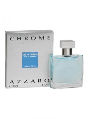 Chrome, Туалетная вода, 30 мл Azzaro. Цвет: голубой, серебристый