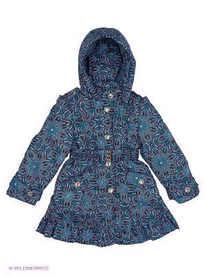 Пальто Rusland. Цвет: синий, фиолетовый
