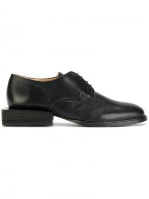 Туфли на шнуровке с квадратным каблуком Jacquemus. Цвет: чёрный
