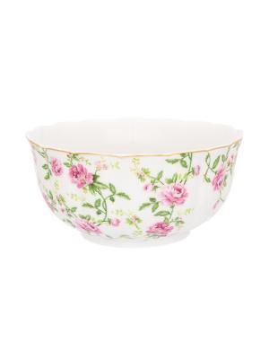 Салатник Плетистая роза Elan Gallery. Цвет: белый, зеленый, розовый