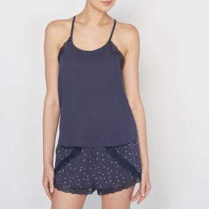 Пижама с кружевной отделкой LOVE JOSEPHINE. Цвет: темно-синий/рисунок