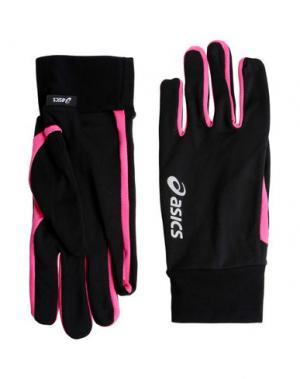 Перчатки ASICS. Цвет: черный