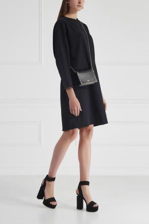 Хлопковое платье Cyrille Gassiline. Цвет: черный