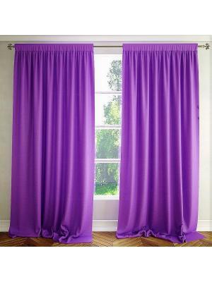 Однотонная штора Лаванда Altali. Цвет: фиолетовый