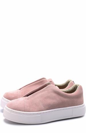 Замшевые кеды Doja без шнуровки Eytys. Цвет: розовый