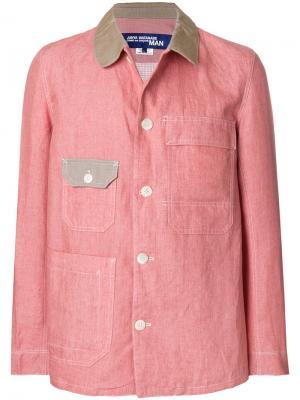 Куртка с косым воротником Junya Watanabe Comme Des Garçons Man. Цвет: розовый и фиолетовый