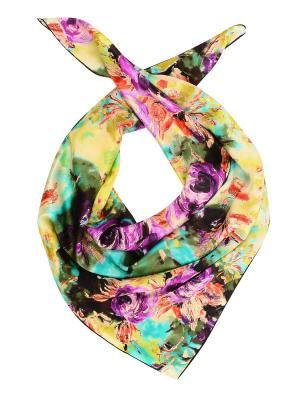 Платок LACCOM. Цвет: бирюзовый, фиолетовый