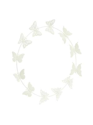 Настенный декор Butterfly Gardman. Цвет: белый