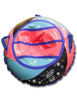Тюбинг ТЕНТ-СПИРАЛЬ с мягкими ручками Бабл-Гам, 100 см Belon. Цвет: черный, розовый, синий
