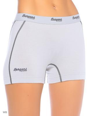 Термобелье-шорты Bergans. Цвет: светло-серый