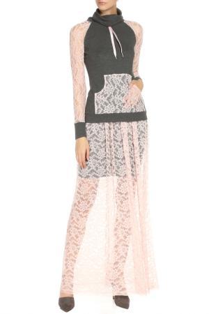 Костюм:джемпер,юбка Adzhedo. Цвет: серый, розовый