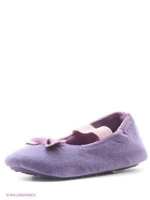 Тапочки Isotoner. Цвет: фиолетовый
