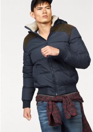 Стеганая куртка JOHN DEVIN. Цвет: оливково-зеленый, темно-синий