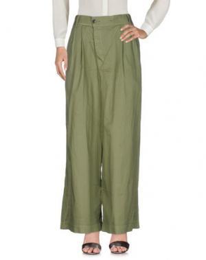 Повседневные брюки ZUCCA. Цвет: зеленый-милитари
