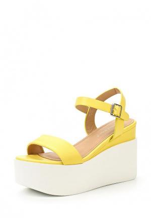 Босоножки Ideal Shoes. Цвет: желтый