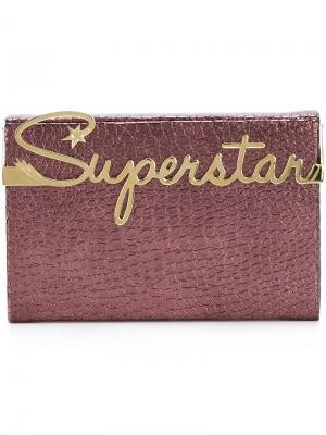 Клатч Superstar Vanity Charlotte Olympia. Цвет: розовый и фиолетовый