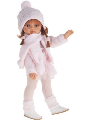 Кукла Эльвира осенний образ, рыжая, 33см Antonio Juan. Цвет: бледно-розовый