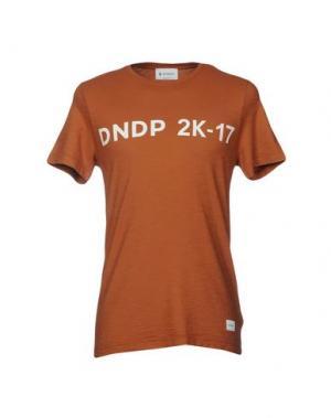 Футболка DONDUP. Цвет: коричневый