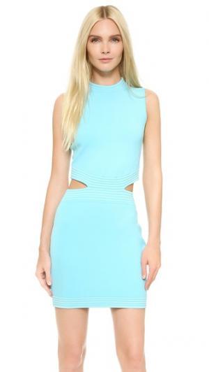 Платье без рукавов Mugler. Цвет: голубой