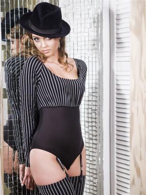 Блузка- боди V.I.P.A. Цвет: черный