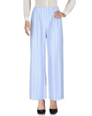 Повседневные брюки WEILI ZHENG. Цвет: небесно-голубой