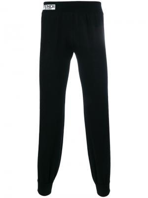 Зауженные спортивные брюки Fendi. Цвет: чёрный