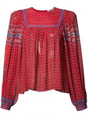 Плиссированная блузка с узором Ulla Johnson. Цвет: красный