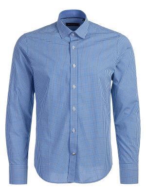 Рубашка Angelo Bonetti. Цвет: синий