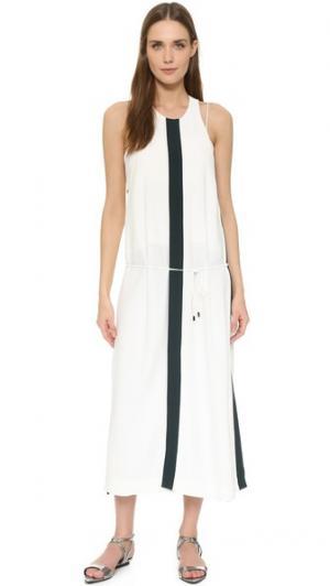 Длинное платье с разрезами Josh Goot. Цвет: белый/лесной