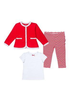 Комплект одежды для малыша NinoMio. Цвет: красный, белый, серый
