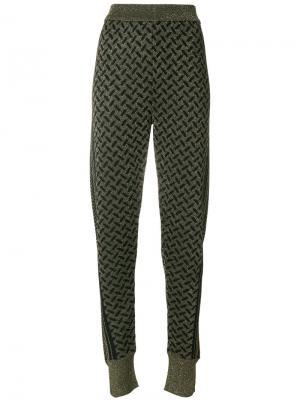 Приталенные брюки Lala Berlin. Цвет: чёрный